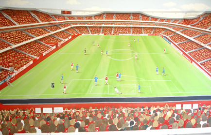 arsenal wall painting