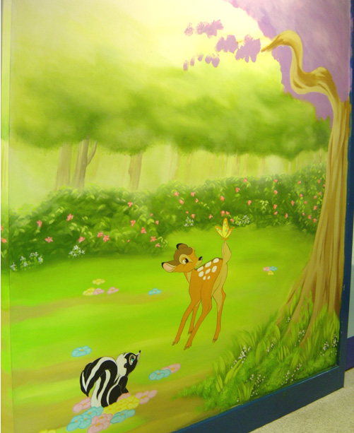 woodland wall painting