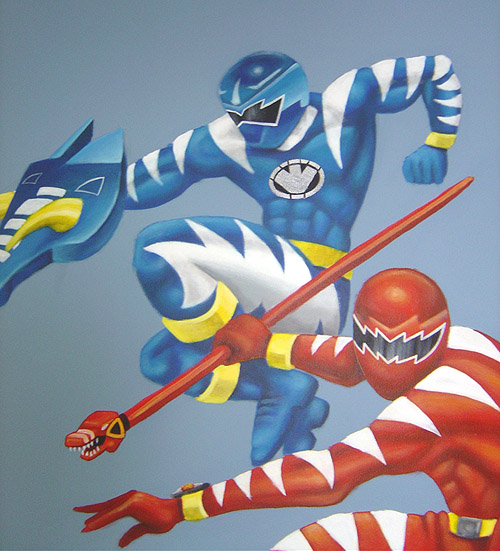 power rangers painting