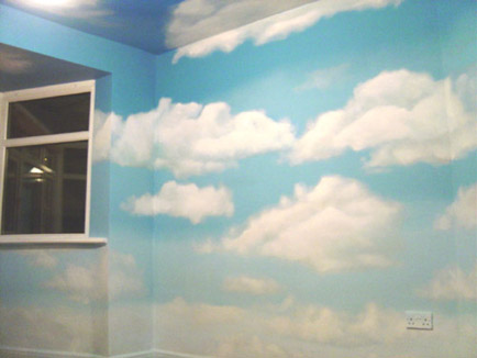 cloud han painted mural