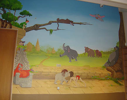mixed wall mural