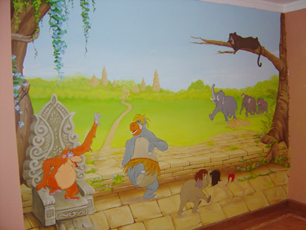jungle book wall mural