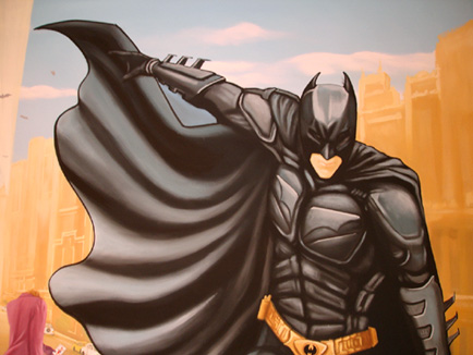 batman wall painting