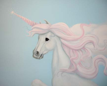 unicorn wall painting