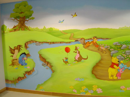 tigger playroom mural